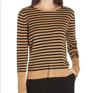 Eileen Fisher Striped Crew Neck Sweater NWT